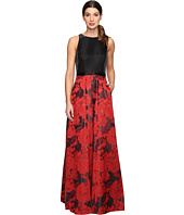Tahari by ASL - Floral Jacquard Ball Gown