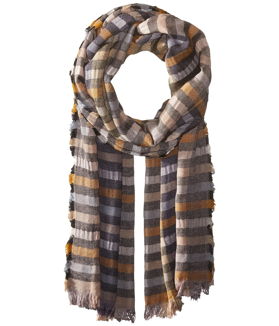 Echo Design - Bright Stripes Wrap Scarf (Black) Scarves