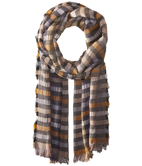 Echo Design Bright Stripes Wrap Scarf - Black