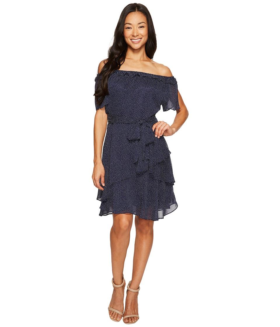 Tahari by ASL Petite - Petite Pindot Chiffon Dress