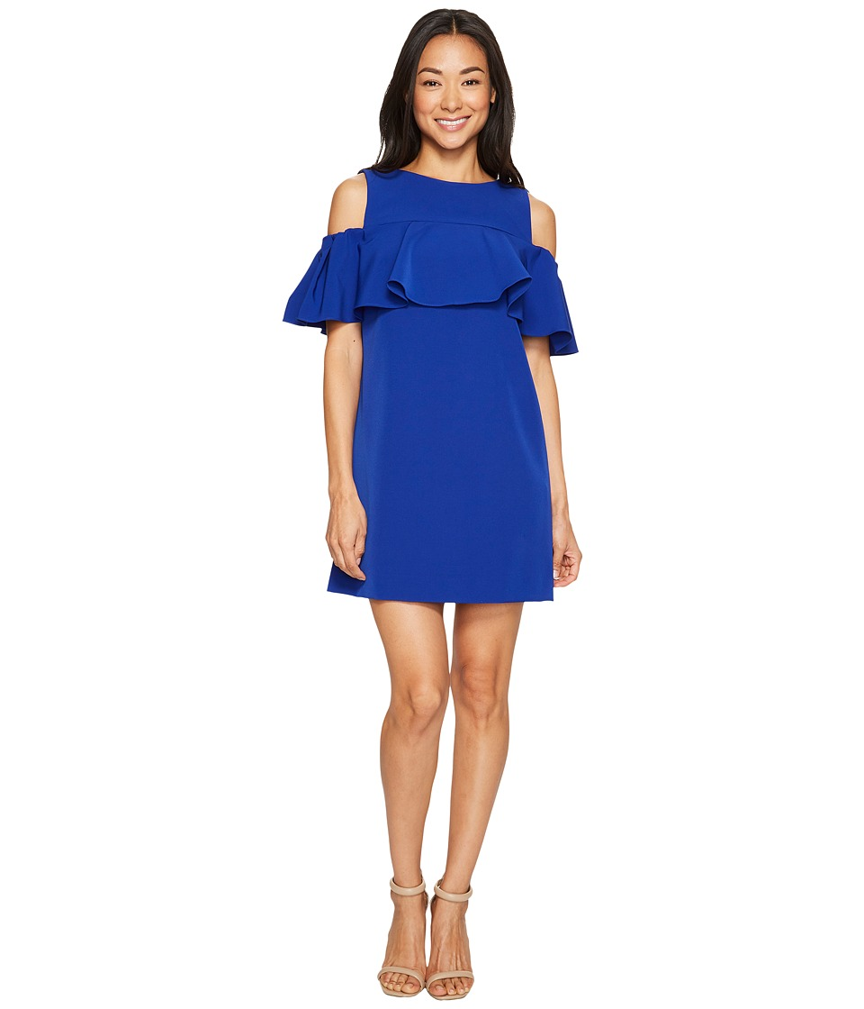 Tahari by ASL Petite - Petite Off-Shoulder Flounce Sheath Dress