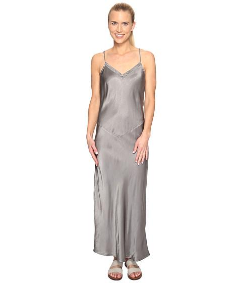 Hard Tail Long Bias Dress - Nickel