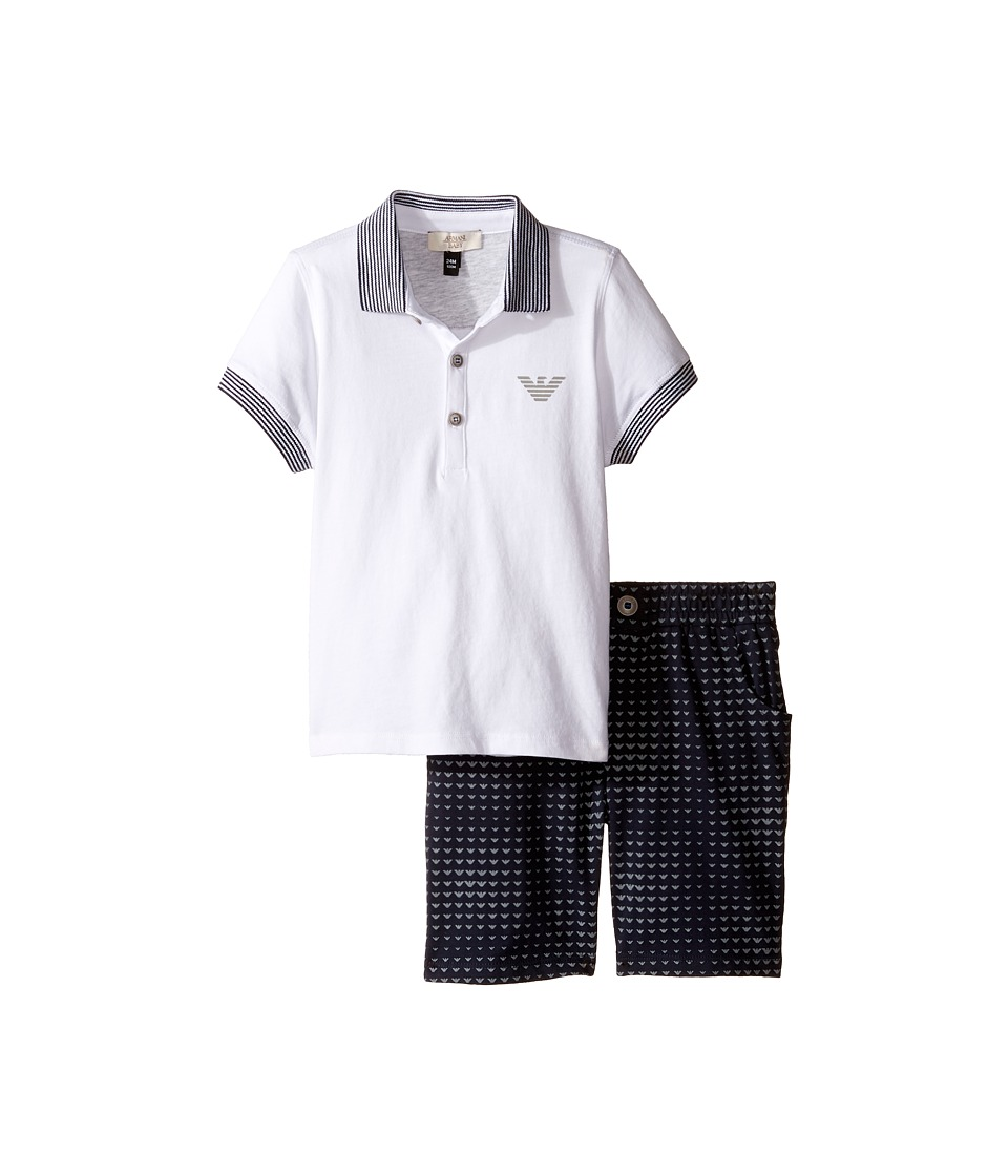 Armani Junior Armani Junior - Logo Polo and Printed Logo Shorts