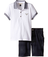Armani Junior - Logo Polo and Printed Logo Shorts (Infant)