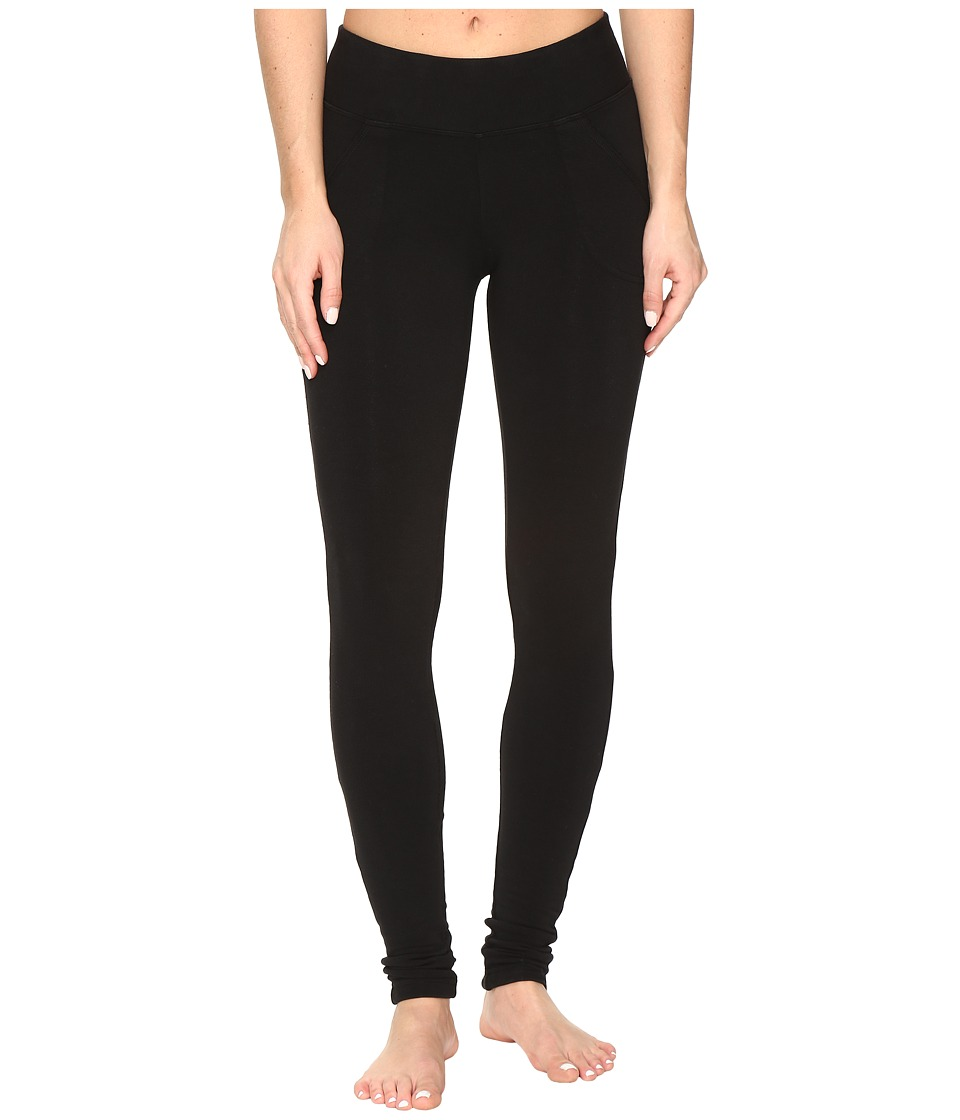 Hard Tail Slash Pocket Leggings (Black) Women's Casual Pants