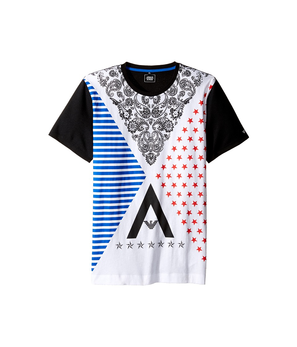 Armani Junior - Funtastic Logo Printed Tee with Mesh Tee