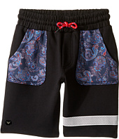 Armani Junior - Funtastic Sweatshorts with Mesh Detail (Big Kids)