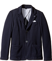Armani Junior - Pocket Square Blazer (Big Kids)