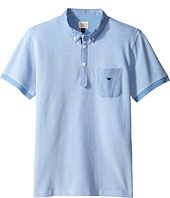 Armani Junior - Pique Polo with Chambray Detail (Big Kids)
