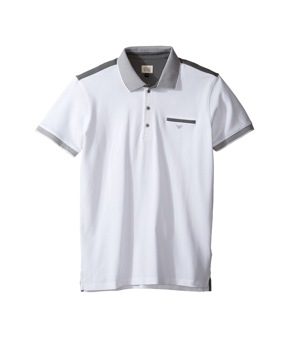 Armani Junior - Polo with Stripe Detailing on Sleeve and Collar
