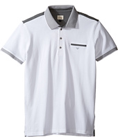 Armani Junior - Polo with Stripe Detailing on Sleeve and Collar (Toddler/Little Kids/Big Kids)
