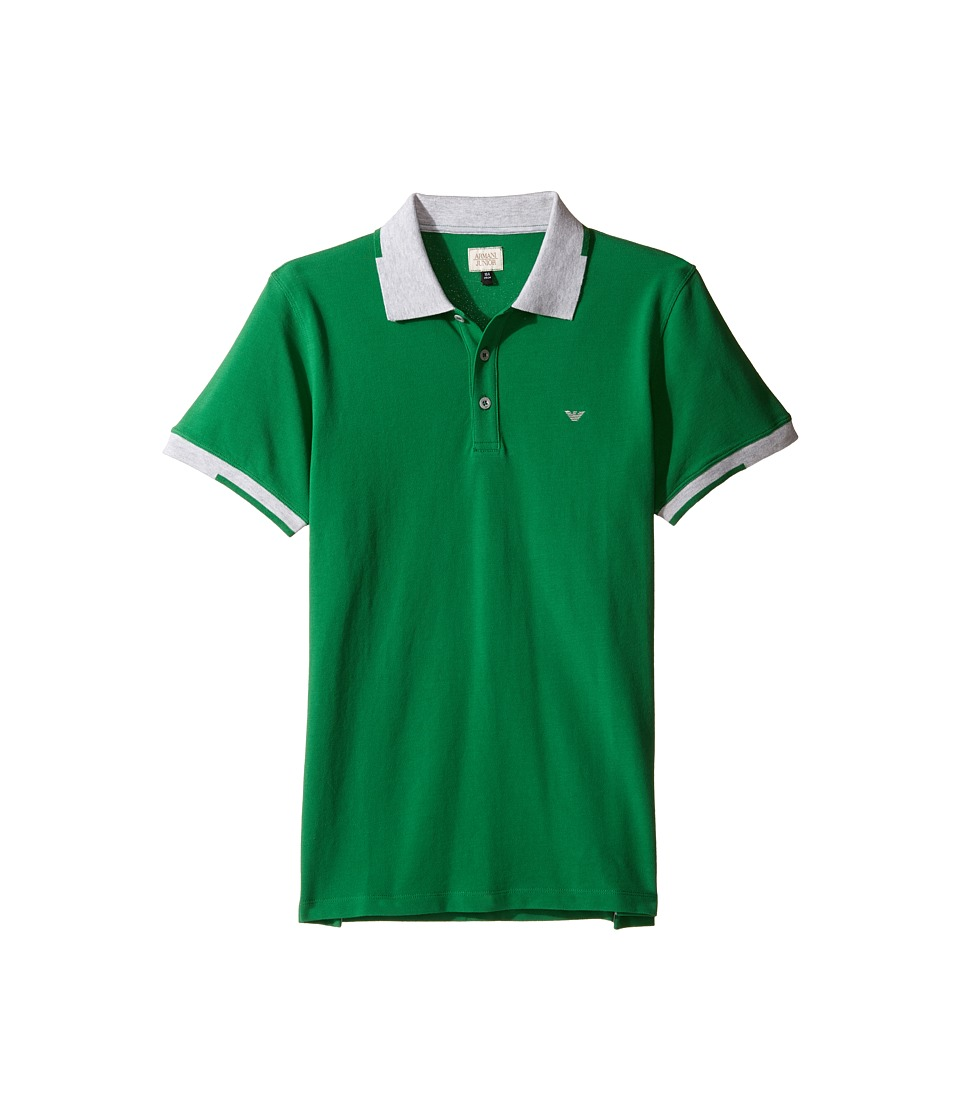 Armani Junior - Polo with Gray Collar and Sleeve