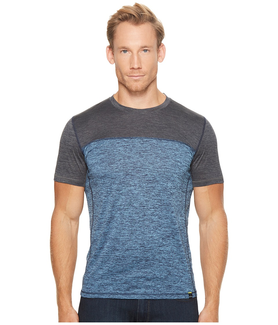 Prana Hardesty Color Block Tee (Dusky Skies Color Block) Men