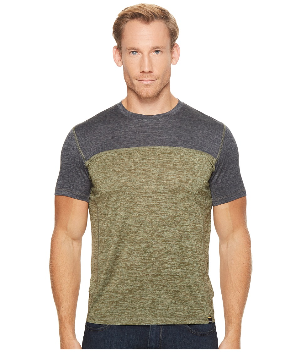 Prana Hardesty Color Block Tee (Cargo Green Color Block) Men