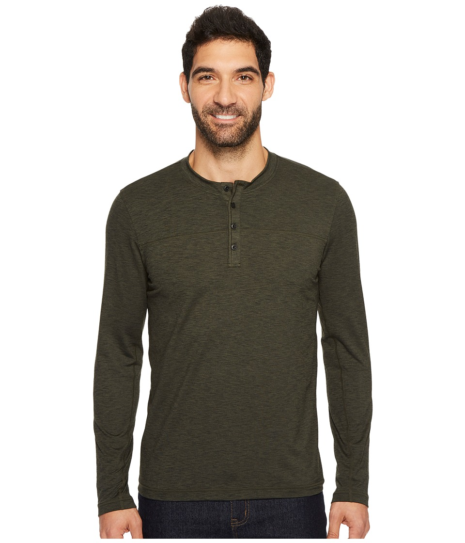 Prana Zylo Henley (Cargo Green Heather) Men