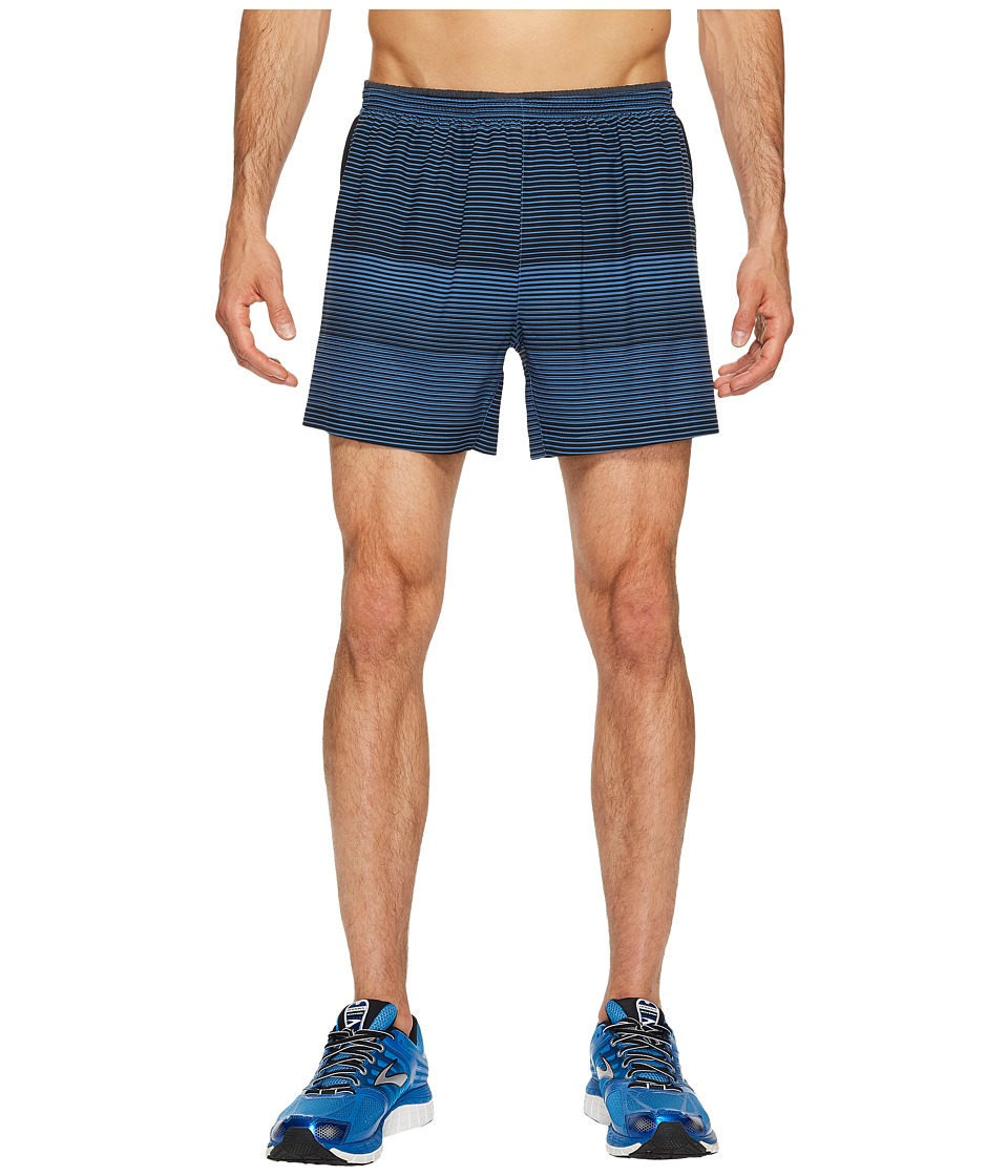 Brooks Sherpa 5 Shorts (Bay/Black Stripe) Men