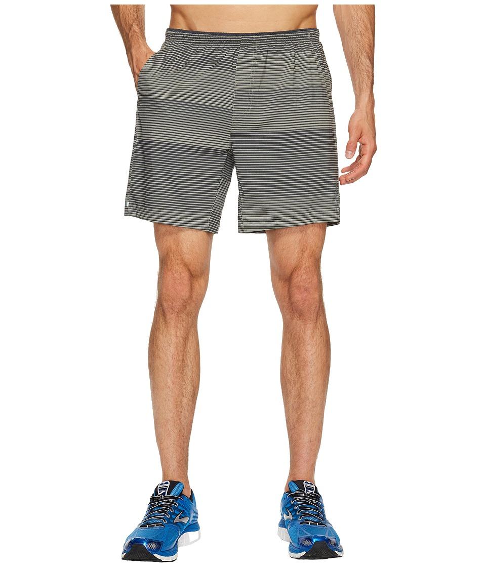 Brooks Sherpa 7 Shorts (Oyster/Asphalt Stripe) Men