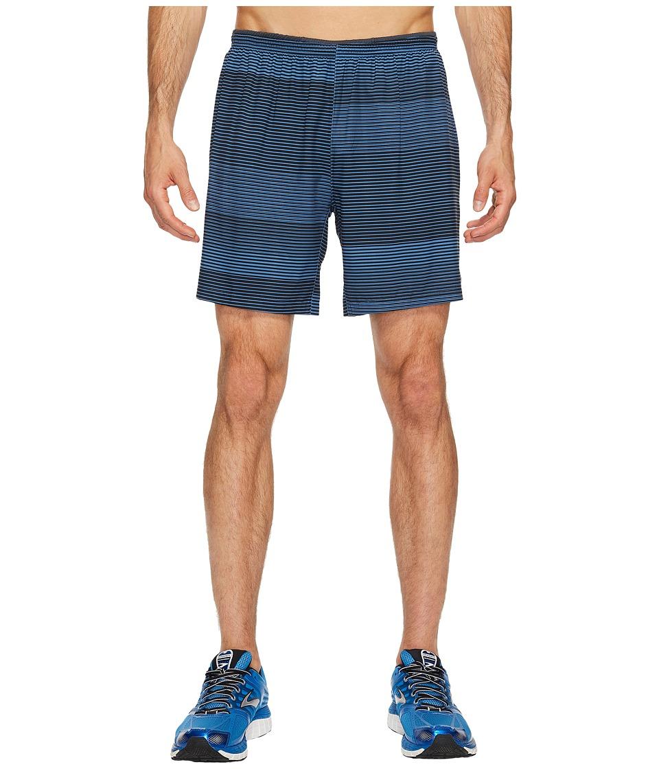 Brooks Sherpa 7 2-in-1 Shorts (Bay/Black Stripe) Men