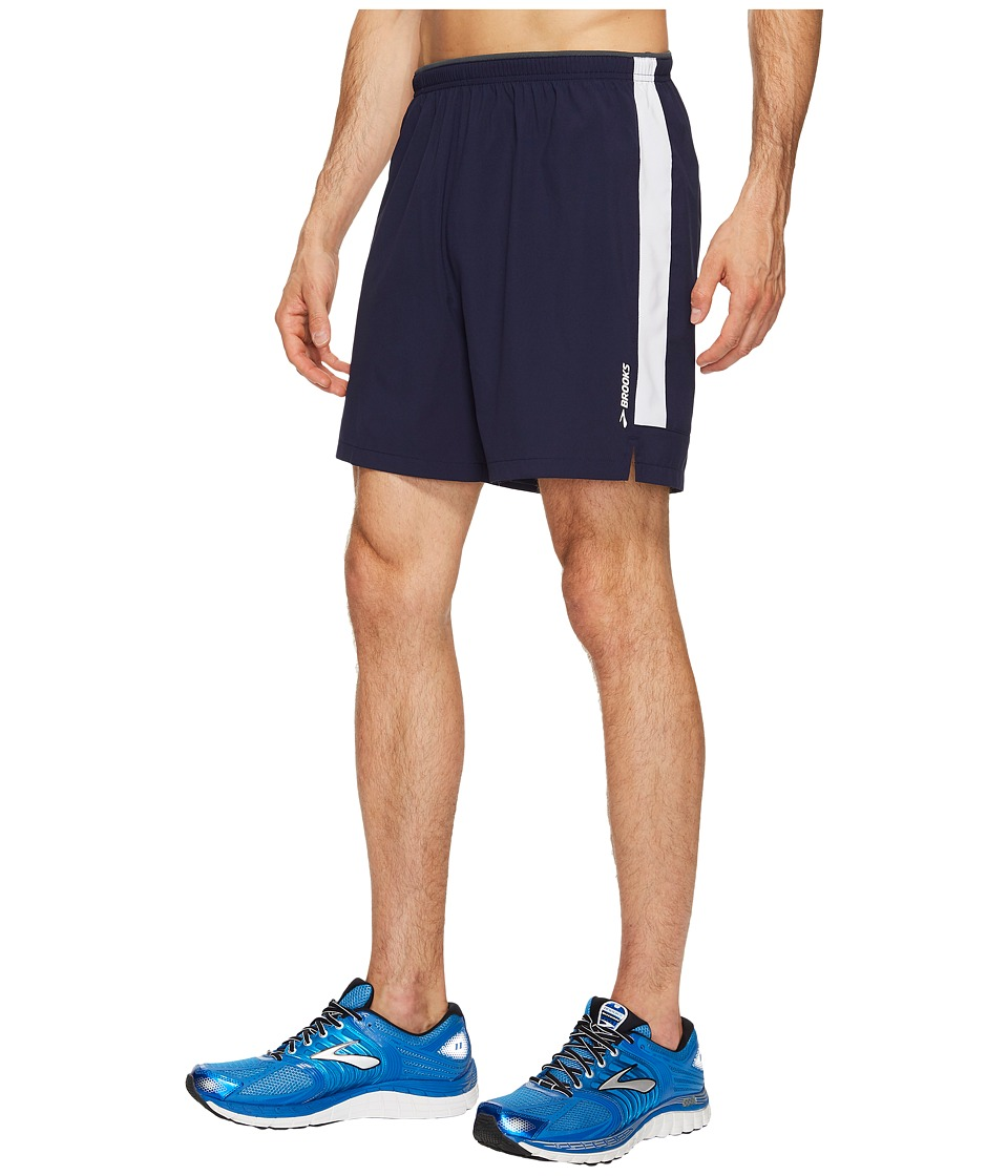 Brooks Go-To 7 Shorts (Navy/White) Men