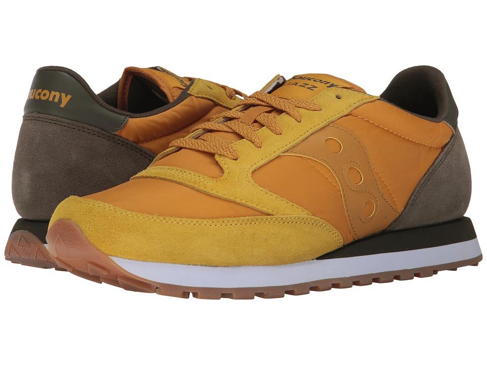 Saucony Originals - Jazz Original (Gold/Brown) Mens Classic Shoes
