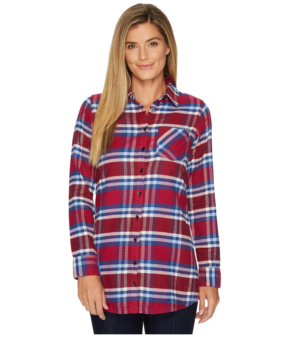 Mountain Khakis - Penny Plaid Tunic Shirt (Beaujolais Plaid) Womens Blouse