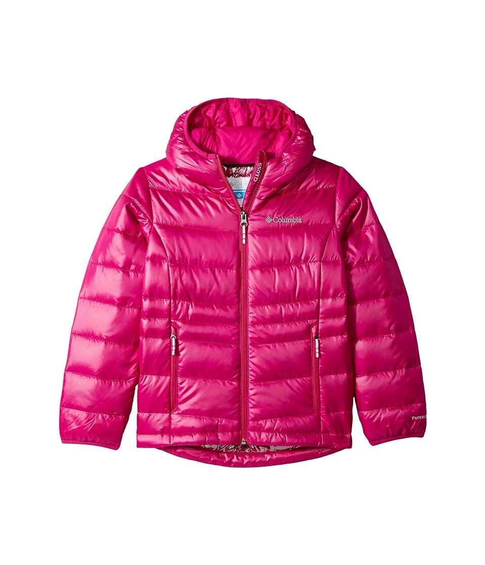 Columbia Kids Gold 550 TurboDowntm Hooded Down Jacket (Little Kids/Big Kids) (Deep Blush) Girl