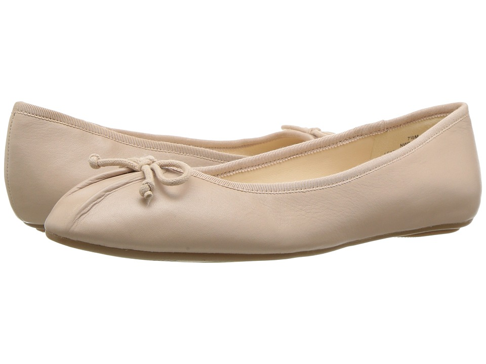 1950s Style Shoes Nine West Batoka Ballerina Flat Natural Leather Womens Shoes $59.00 AT vintagedancer.com