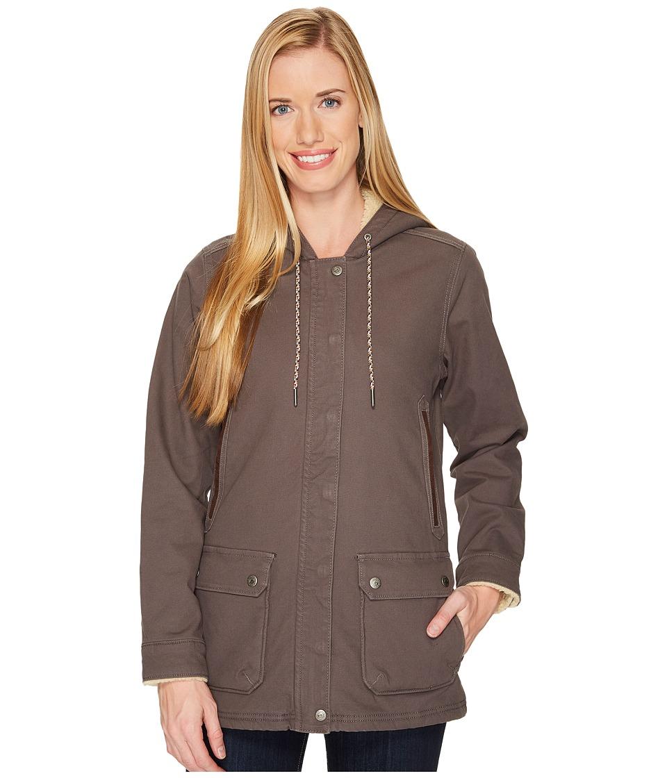Mountain Khakis - Ranch Shearling Hooded Coat (Slate) Womens Coat