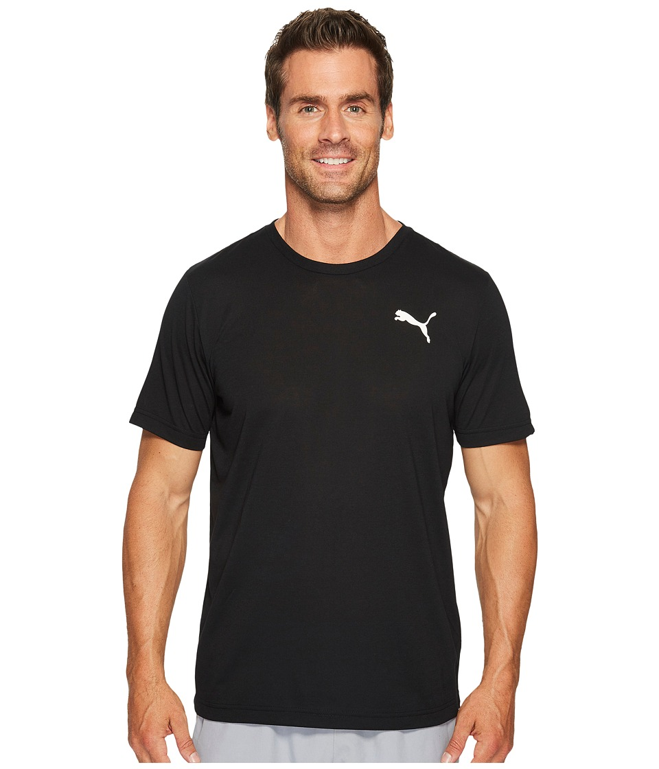PUMA - Active Tee (PUMA Black/White) Mens T Shirt