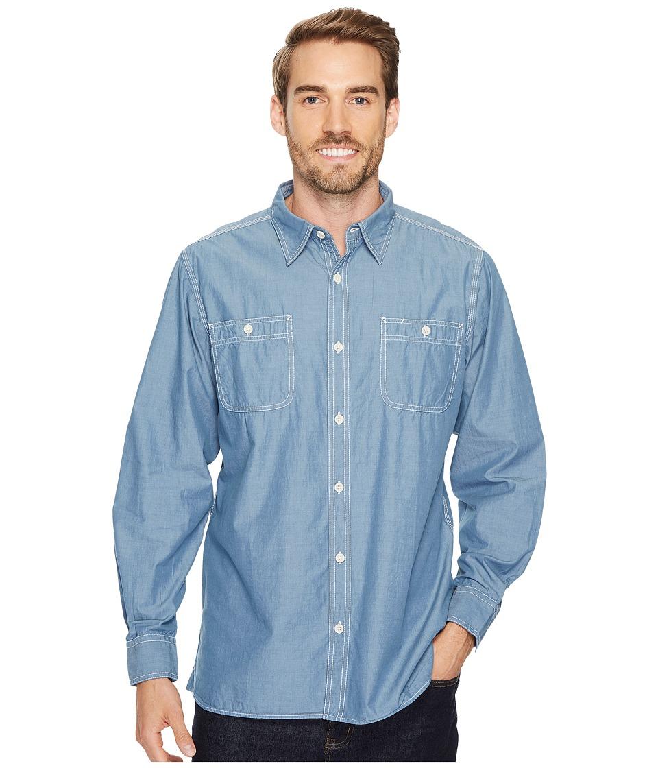 Mountain Khakis - Mountain Chambray Long Sleeve Shirt (Steel Blue) Mens Clothing