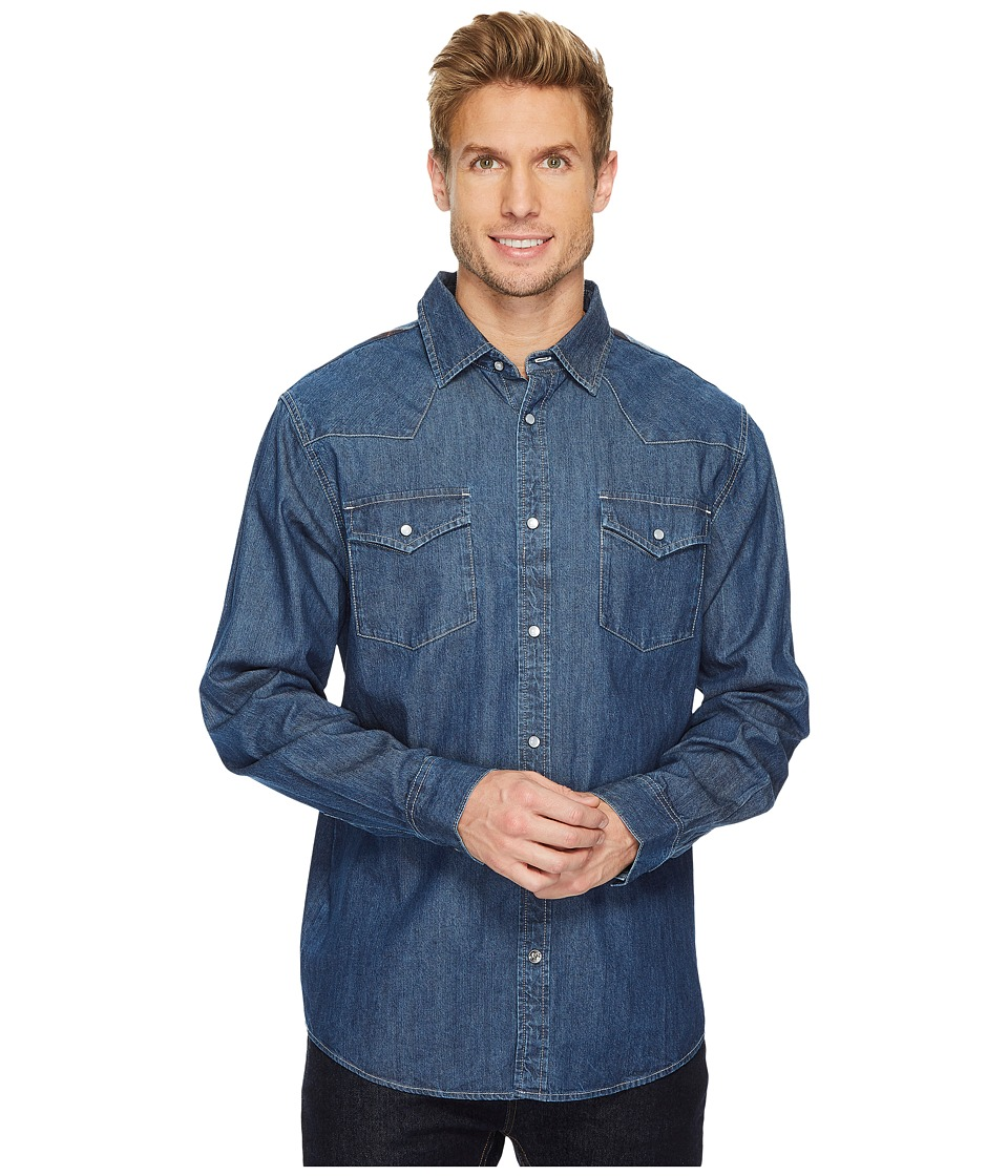 Mountain Khakis - Original Mountain Denim Shirt (Dark Indigo/Twilight Plaid) Mens T Shirt