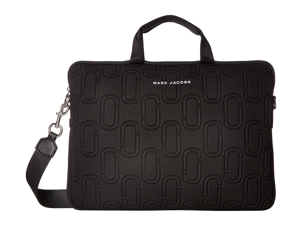 Marc Jacobs Double J Neoprene 15 Commuter Case (Black) Computer Bags