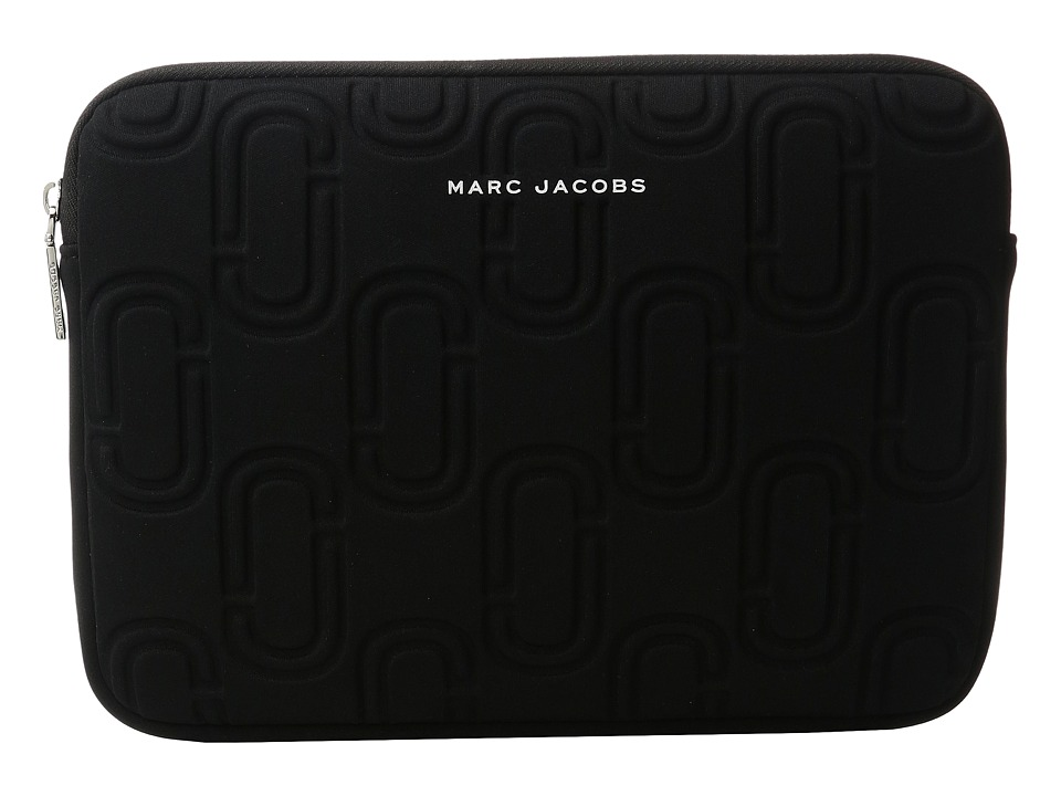 Marc Jacobs Double J Neoprene Tablet Case (Black) Computer Bags