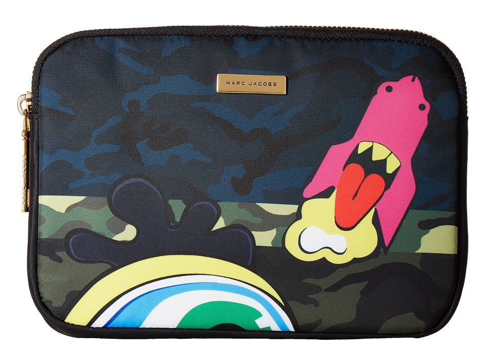 Marc Jacobs - Camo Julie Verhoeven Mini Tablet Case (Navy Multi) Computer Bags