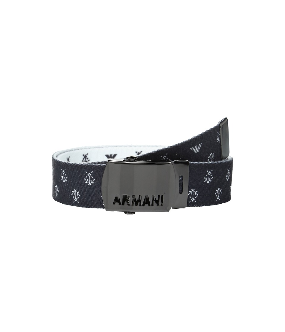 Armani Junior - Fabric Belt with Logo Buckle