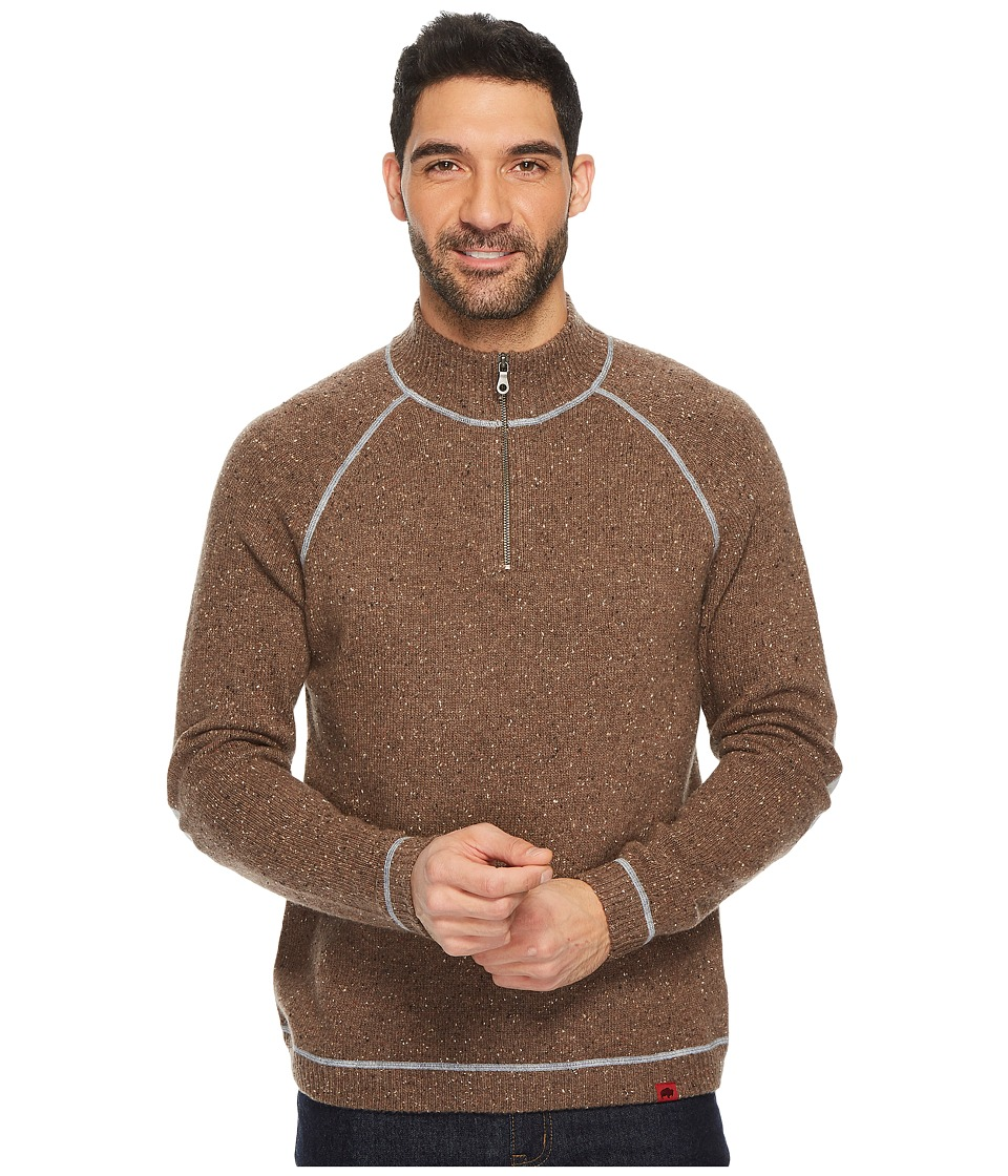 Mountain Khakis - Fleck Qtr Zip Sweater (Terra) Mens Sweater