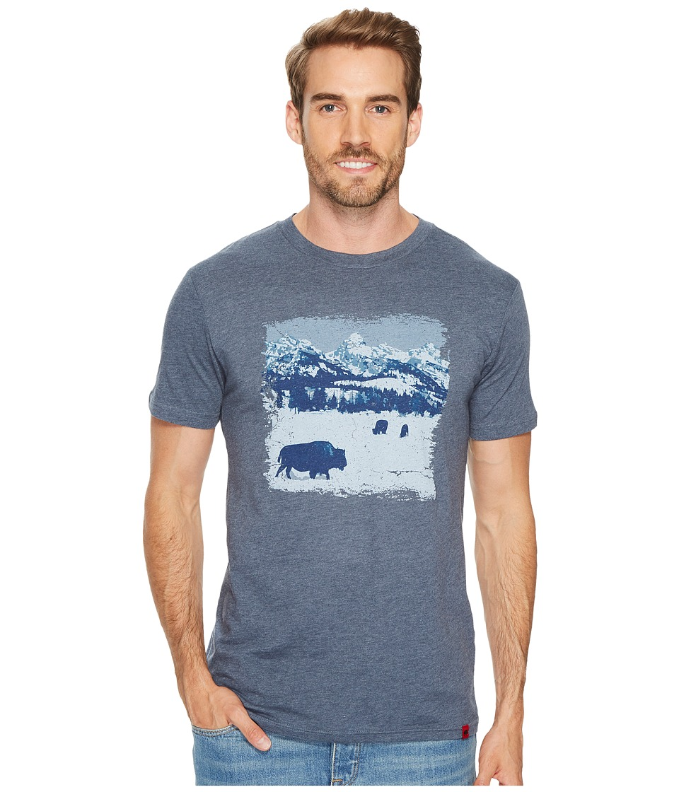 Mountain Khakis - Snowy Graze T-Shirt (Blue Heather) Mens T Shirt