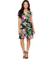 Tahari by ASL Petite - Petite Floral Chiffon Faux-Wrap Dress
