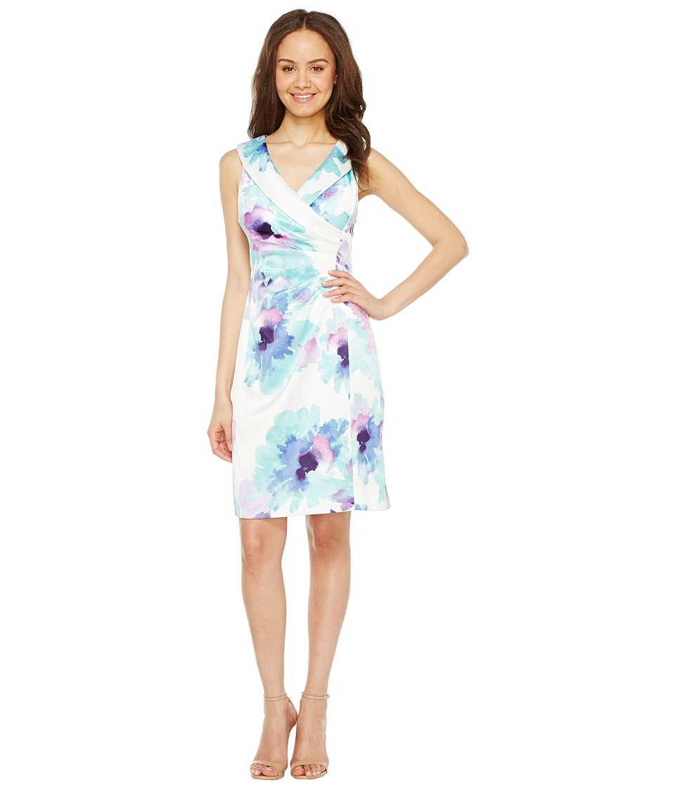 Tahari by ASL Tahari by ASL - Floral Side Ruche Sheath Dress