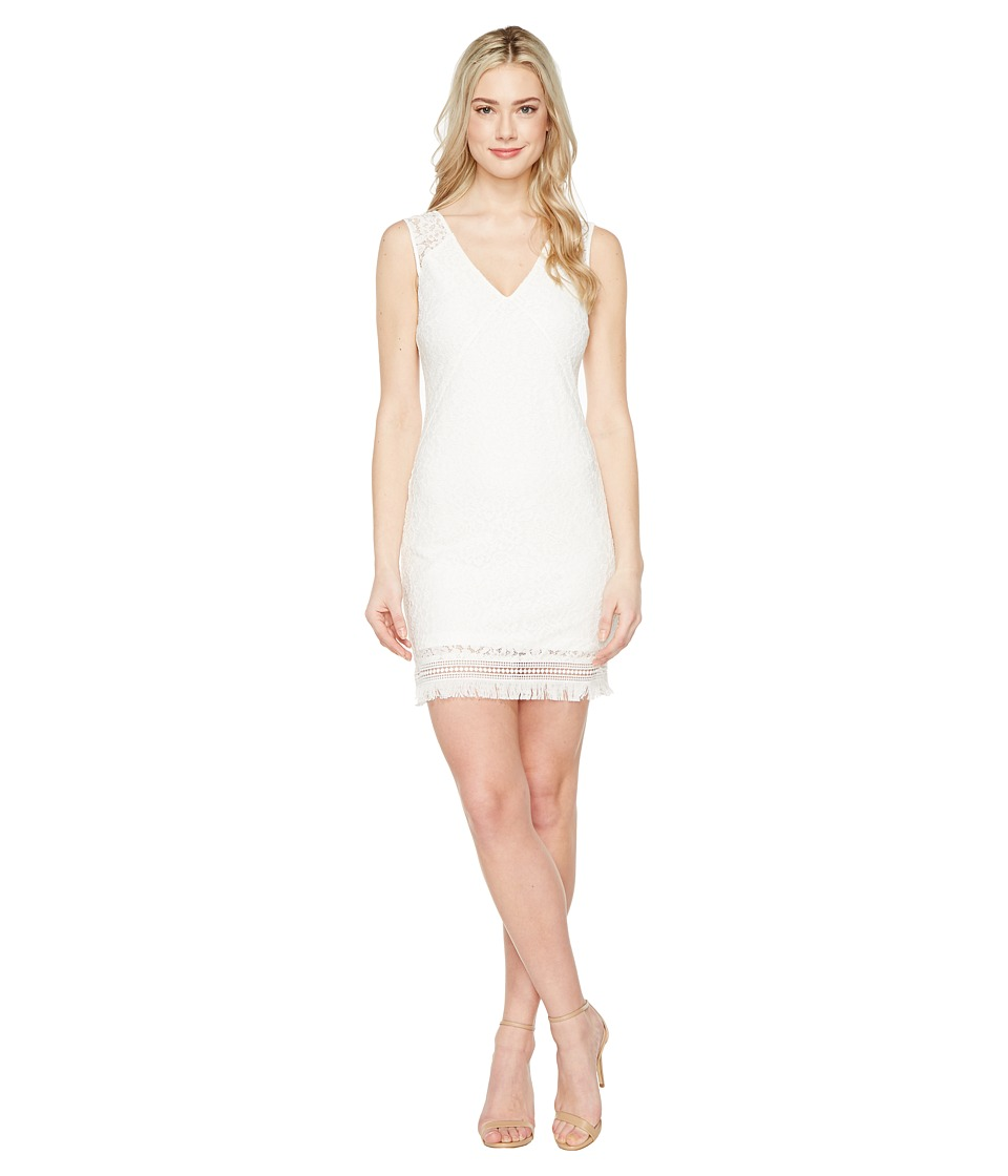 Jessica Simpson Corded Floral Lace Dress (White) Women