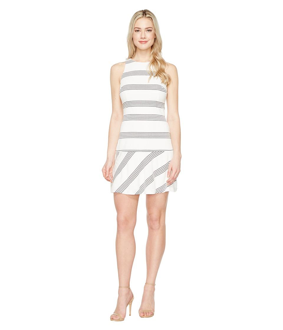 Jessica Simpson - Textured Knit Drop Waist Dress (Stripe) Womens Dress