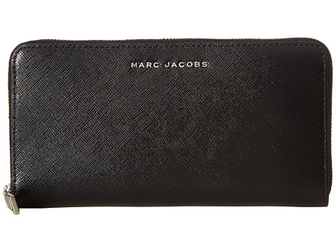 Marc Jacobs Saffiano Tricolor Standard Continental Wallet - Black