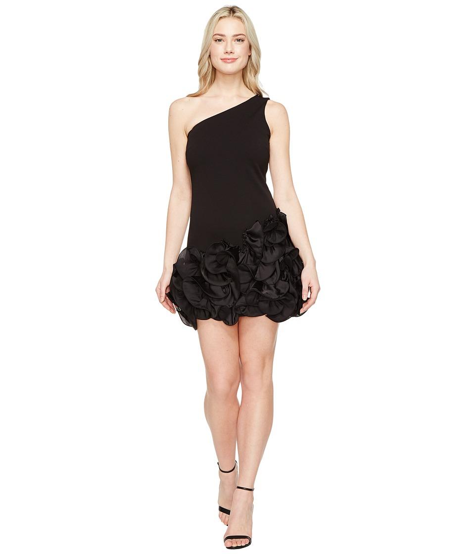 Jessica Simpson - One Shoulder Ruffle Hem Dress (Black) Womens Dress