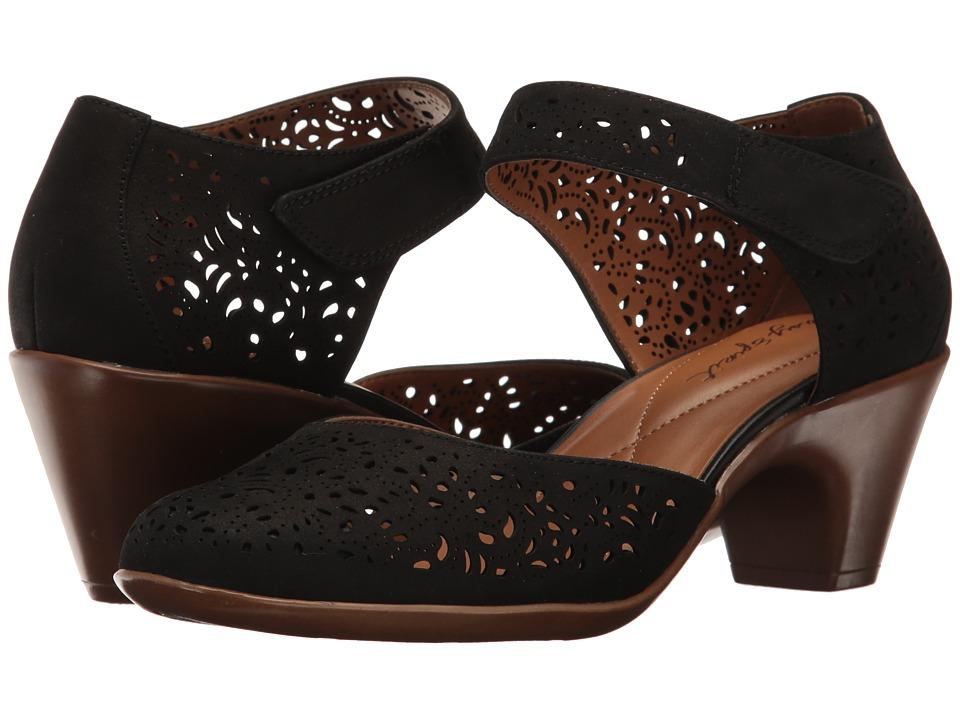 Easy Spirit - Cindie (Black Nubuck) Womens Shoes