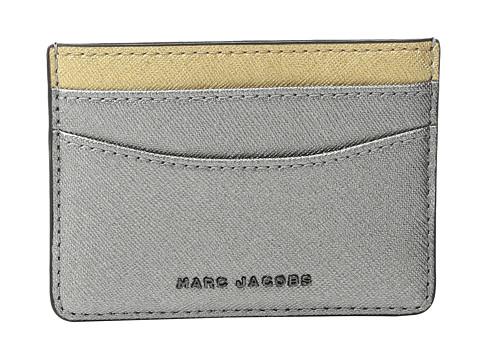 Marc Jacobs Saffiano Tricolor Metallic Card Case - Acciaio