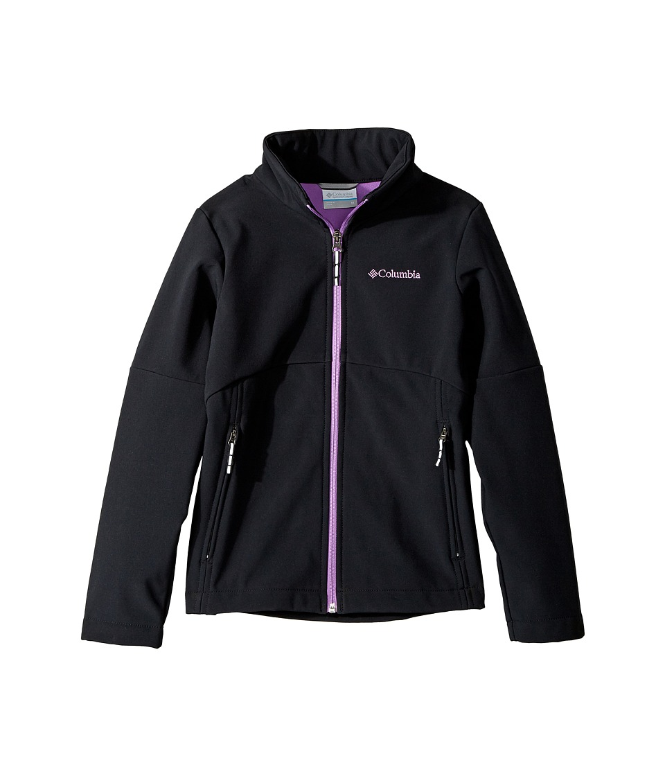 Columbia Kids Brookview Softshell Jacket (Little Kids/Big Kids) (Black/Crown Jewel) Girl