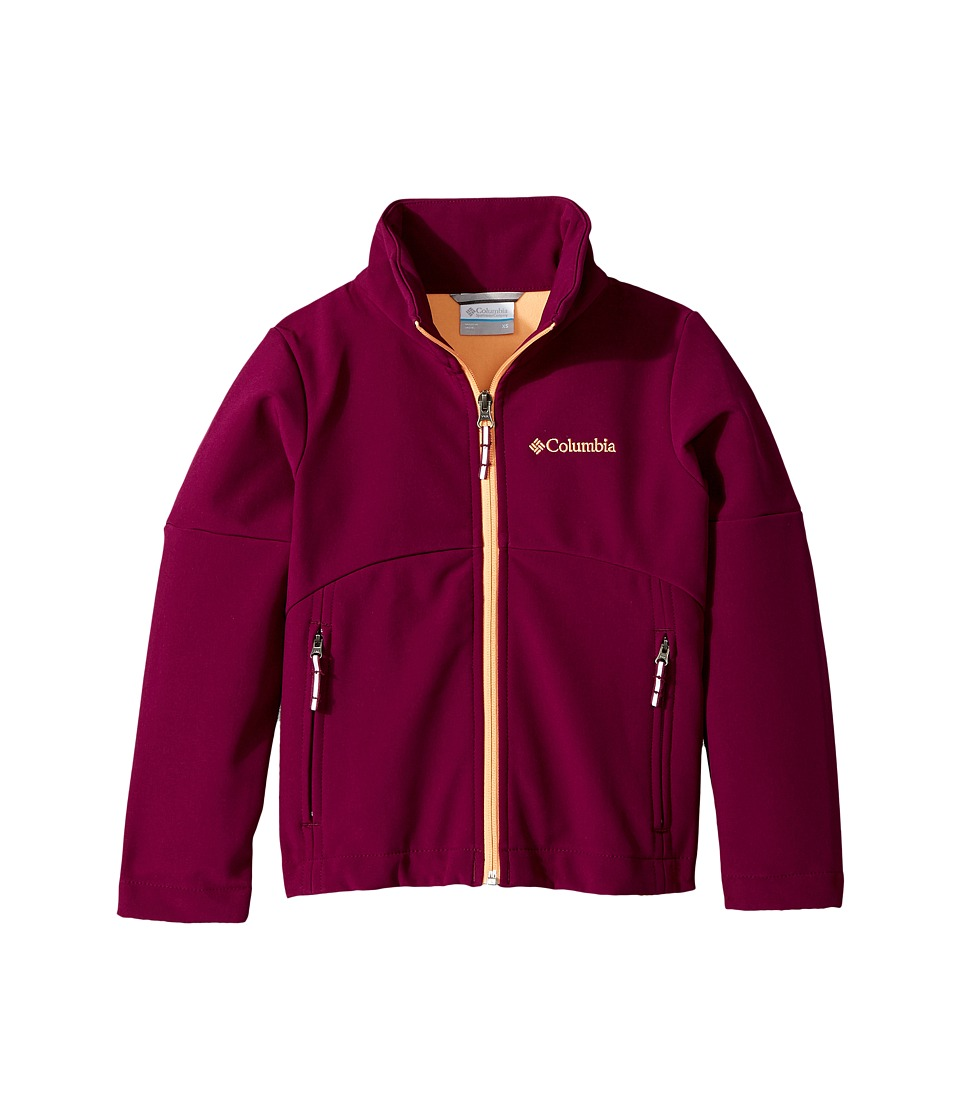 Columbia Kids Brookview Softshell Jacket (Little Kids/Big Kids) (Dark Raspberry/Peach) Girl