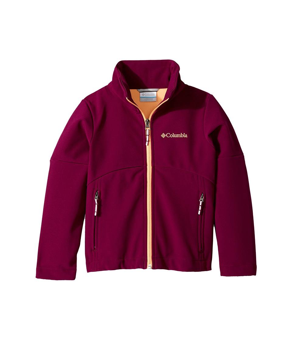 Columbia Kids Brookview Softshell Jacket (Little Kids/Big Kids) (Dark Raspberry/Peach) Girl
