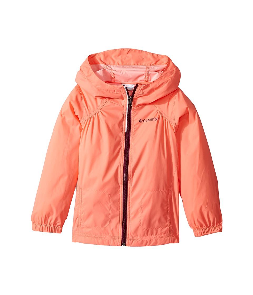 Columbia Kids Switchbacktm Rain Jacket (Little Kids/Big Kids) (Hot Coral/Dark Raspberry) Girl