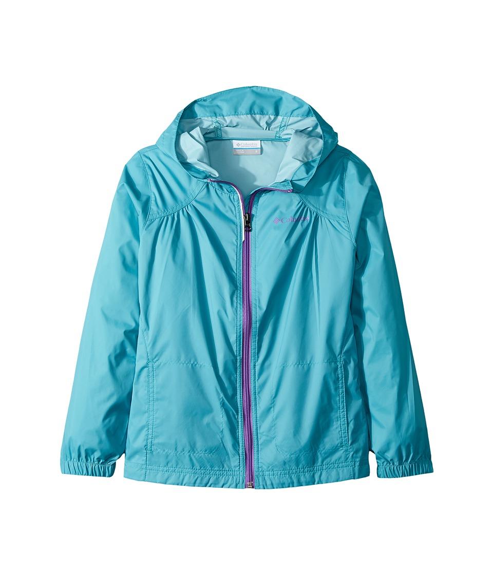 Columbia Kids Switchbacktm Rain Jacket (Little Kids/Big Kids) (Pacific Rim/Crown Jewel) Girl
